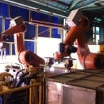 Robotic Cathode Stripping Plant In Motion